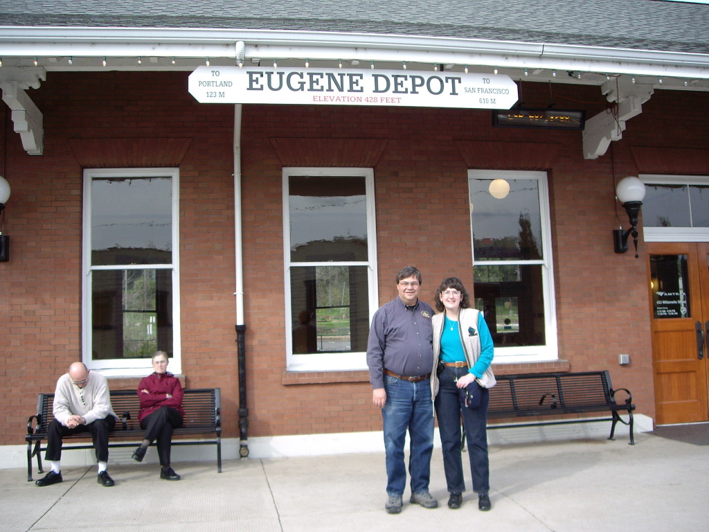 At Eugene Amtrak Station