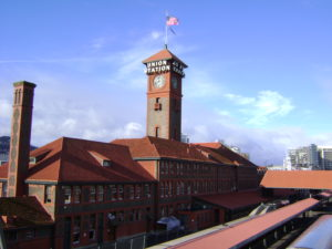 Portland Train Station serves the Coast Starlight, Empire Builder, and the Cascades trains