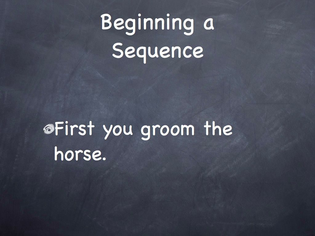 Sequencing in English